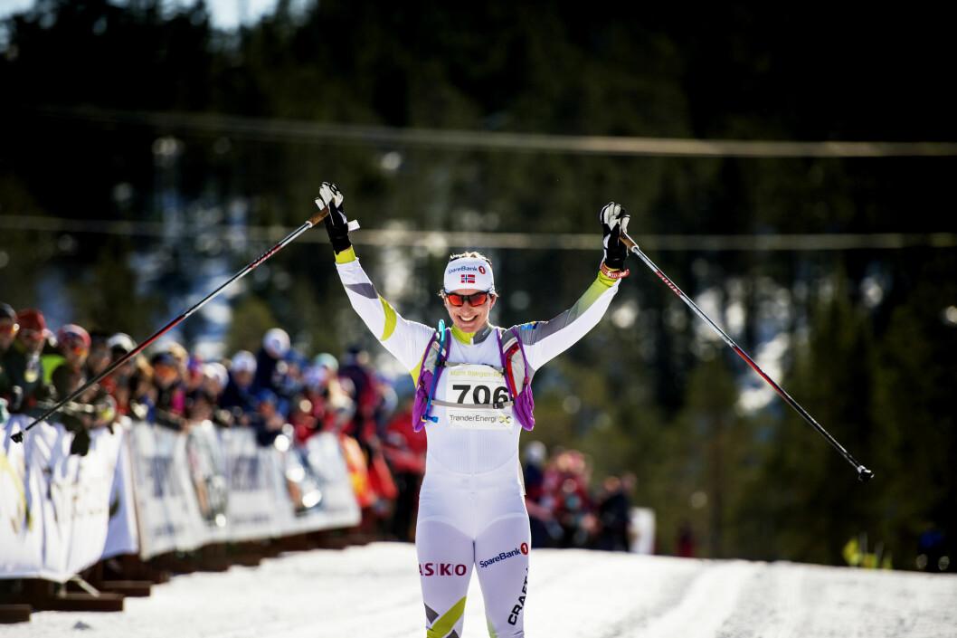 COMEBACK: Marit Bjørgen gjorde comeback etter svangerskapet under den 42km lange etappen i Marit Bjørgen-rennet i mars.  Foto: NTB scanpix