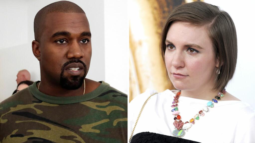 IKKE FAN: «Girls»-skaper Lena Dunham liker ikke måten Kanye West framstiller kvinner på i sin nyeste musikkvideo. Foto: NTB Scanpix