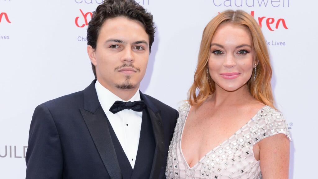 PLANLEGGER BRYLLUP: Onsdag debuterte Lindsay Lohan og forloveden Egor Tarabasov på den røde løperen sammen. Foto: NTB scanpix