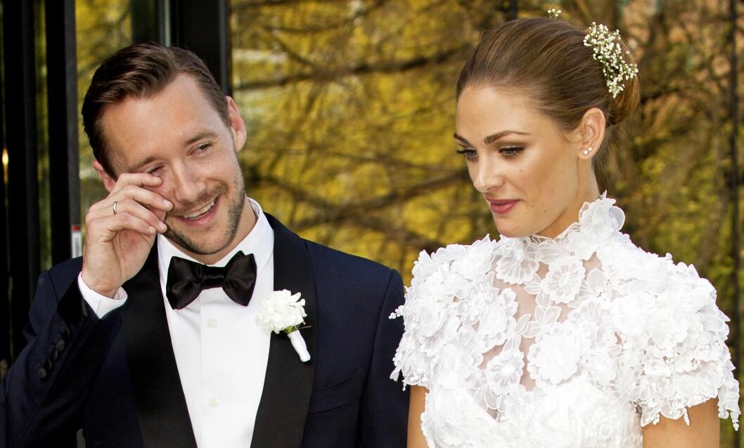 LYKKELIG GIFT: I april 2014 ga Thomas og Jenny hverandre sine ja i Oslo. Foto: Se og Hør