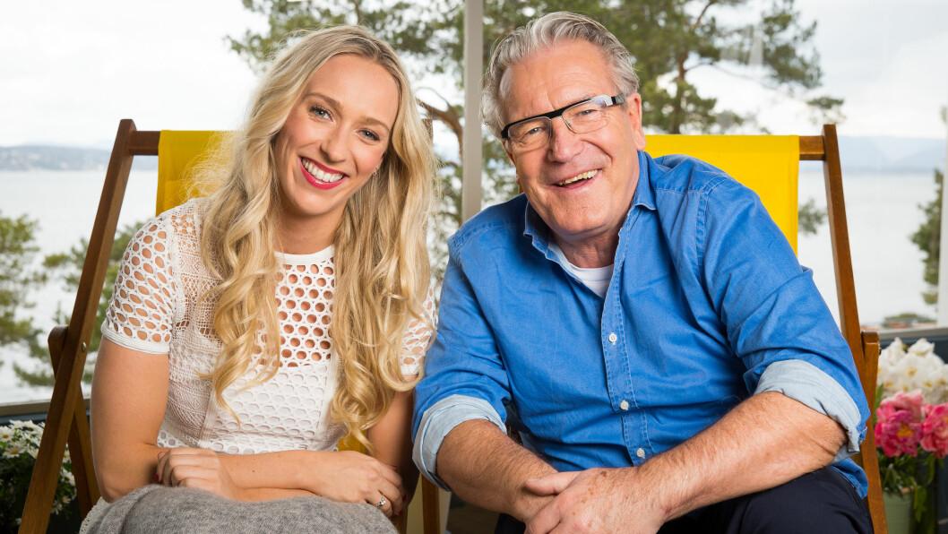 TV-AKTUELL: Denne uken har Katarina Flatland ledet «God sommer Norge» på TV 2 sammen med kollega Davy Wathne. Pappa Hallvard er derimot aktuell på nisjekanalen Viasat Golf.  Foto: Espen Solli/ TV 2