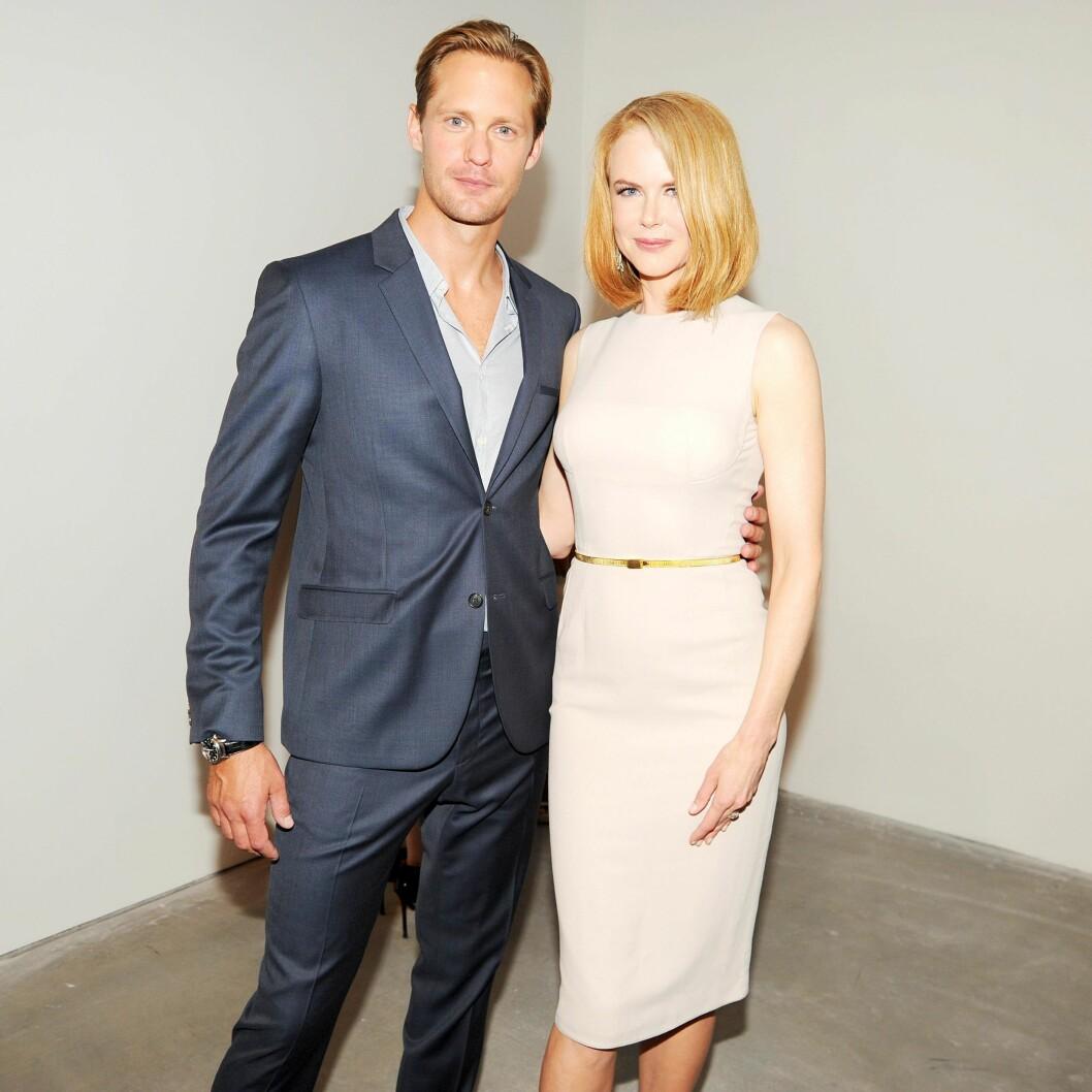 SPILLER SAMMEN: I den nye serien «Big Little Lies» spiller Alexander Skarsgård og Nicole Kidman mot hverandre i noen hete scener. Her er duoen avbildet sammen i 2013.  Foto: SipaUSA
