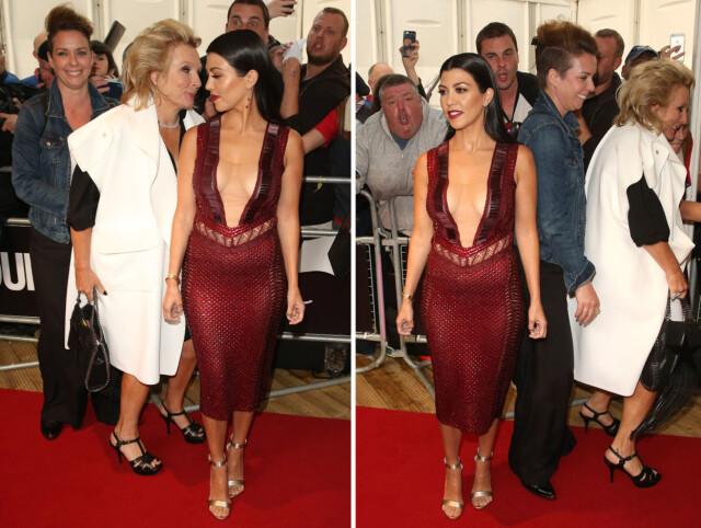 50295f2bb95b TRAKK PÅ SMILEBÅNDET  Både Kourtney Kardashian og Jennifer Saunders ble  fotografert med et smil om