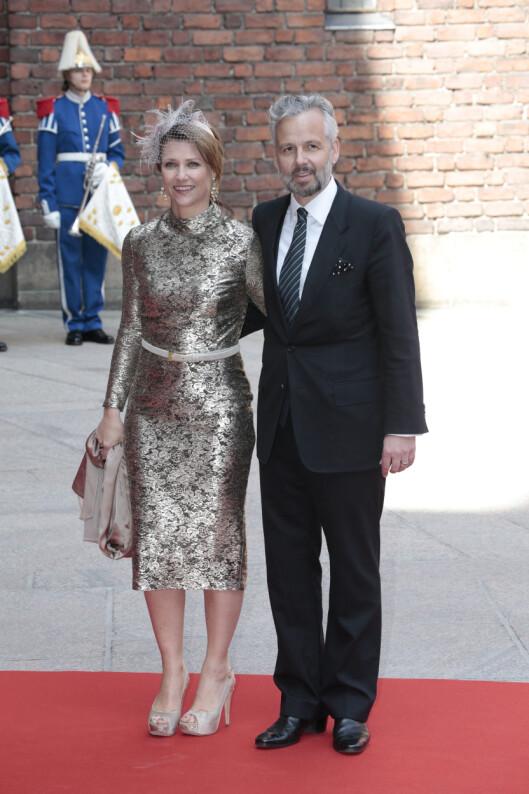 REPRESENTERTE NORGE I SVERIGE: Prinsesse Märtha Louise og hennes ektemann Ari Behn var tilstede da kong Carl Gustaf av Sverige feiret sin 75 år s dag i april. Foto: NTB scanpix