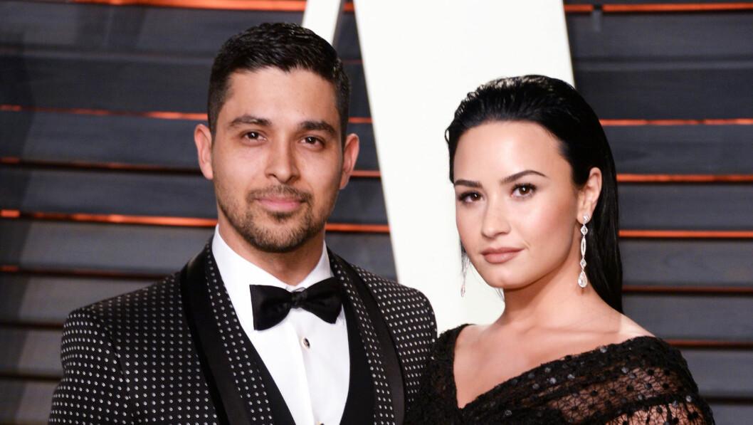AVSLØRTE BRUDD: Etter seks år har forholdet mellom Wilmer Valderrama og Demi Lovato tatt slutt. Foto: SipaUSA
