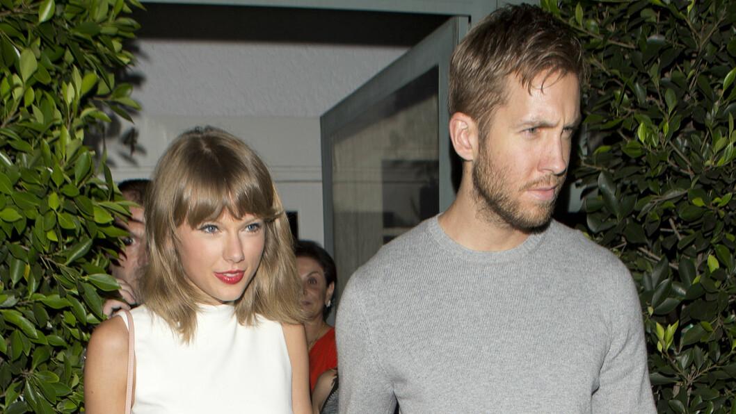 OVER: Romansen mellom sangstjernen Taylor Swift og Calvin Harris har tatt slutt etter 15 måneder sammen.  Foto: Splash News