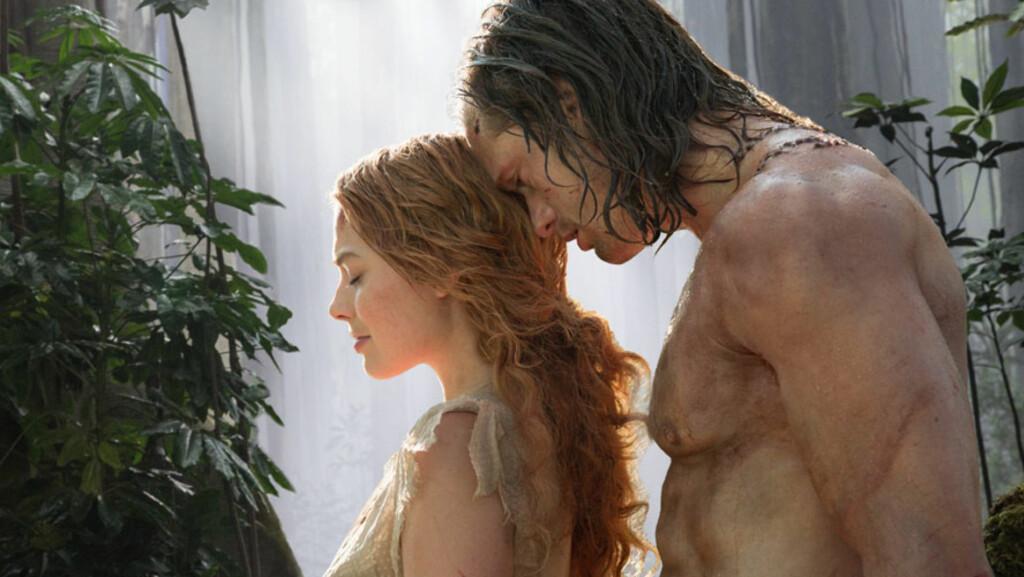 TARZAN OG JANE: Alexander Skarsgård og Margot Robbie er til sommeren aktuelle i kinofilmen «The Legend of Tarzan». Foto: Jonathan Olley