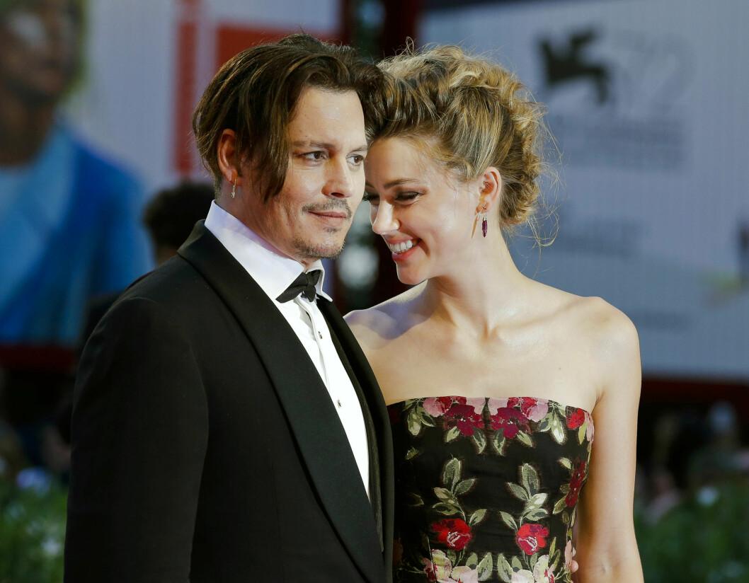 MØTTES PÅ JOBB: Johnny og Amber møttes under innspillingen av filmen «The Rum Diary» i 2011 og Depp skal ha falt pladask for den unge skjønnheten. Foto: Ap