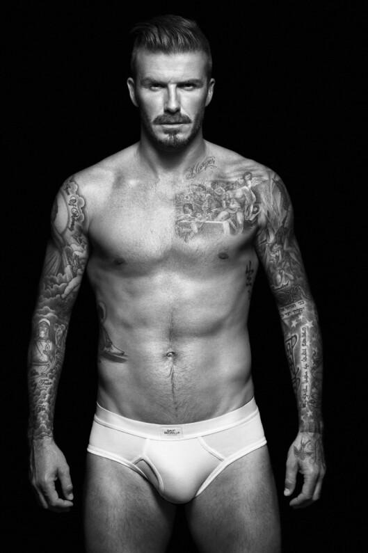 POPULÆR MODELL: Fotballstjernen David Beckham har også gjort suksess som lettkledd modell. Foto: wenn.com