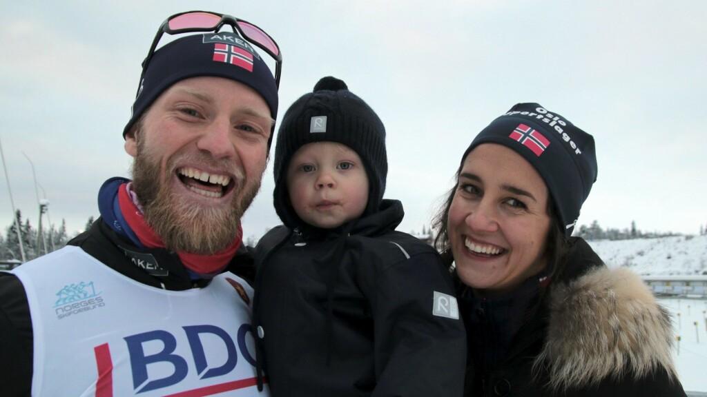 STOLTE FORELDRE: Martin Johnsrud Sundby og kona Marieke har sønnen Markus (avbildet) fra før, og i slutten av april kunne de ønske sønnen Max velkommen til verden.  Foto: Aftenposten