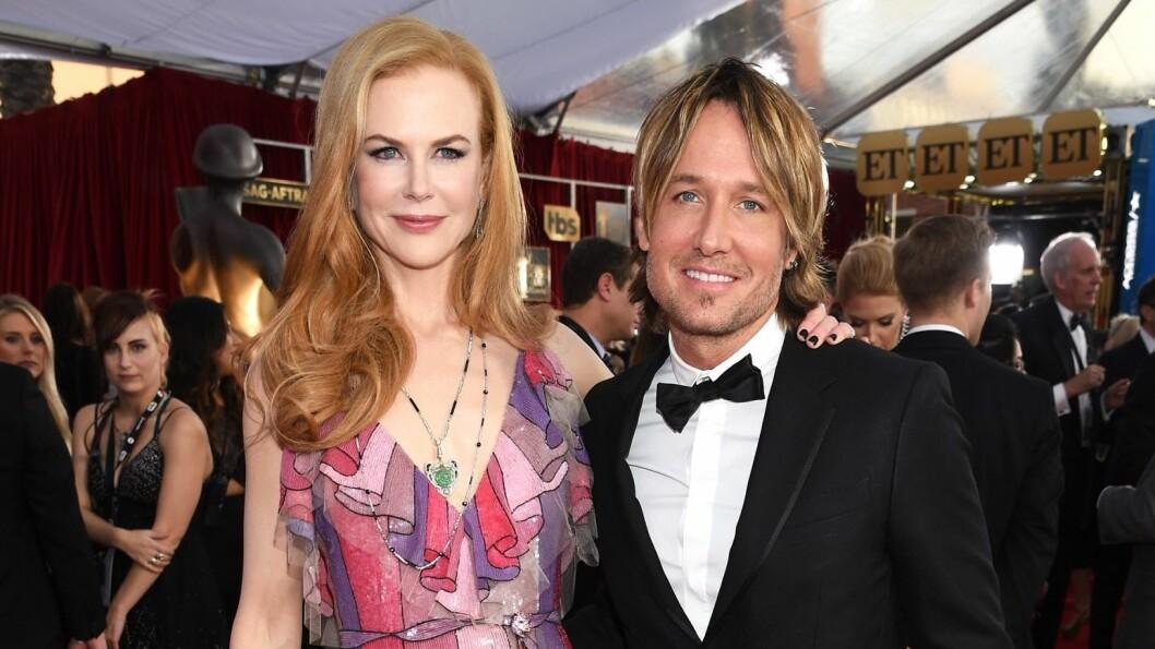 LYKKELIGE: Nicole Kidman og Keith Urban giftet seg i Sydney i 2006. Her er de sammen på SAG Awards i janauar.   Foto: NTB Scanpix