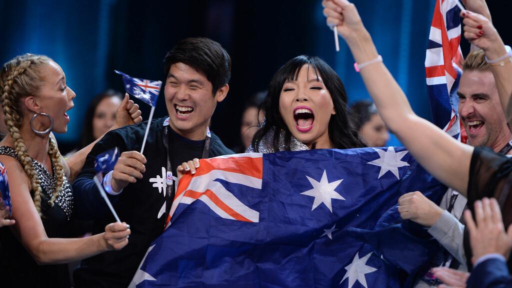 KAN VINNE: Dami Im fra Australia er en favoritt før finalen i Eurovision Song Contest i Stockholm lørdag.  Foto: DPA