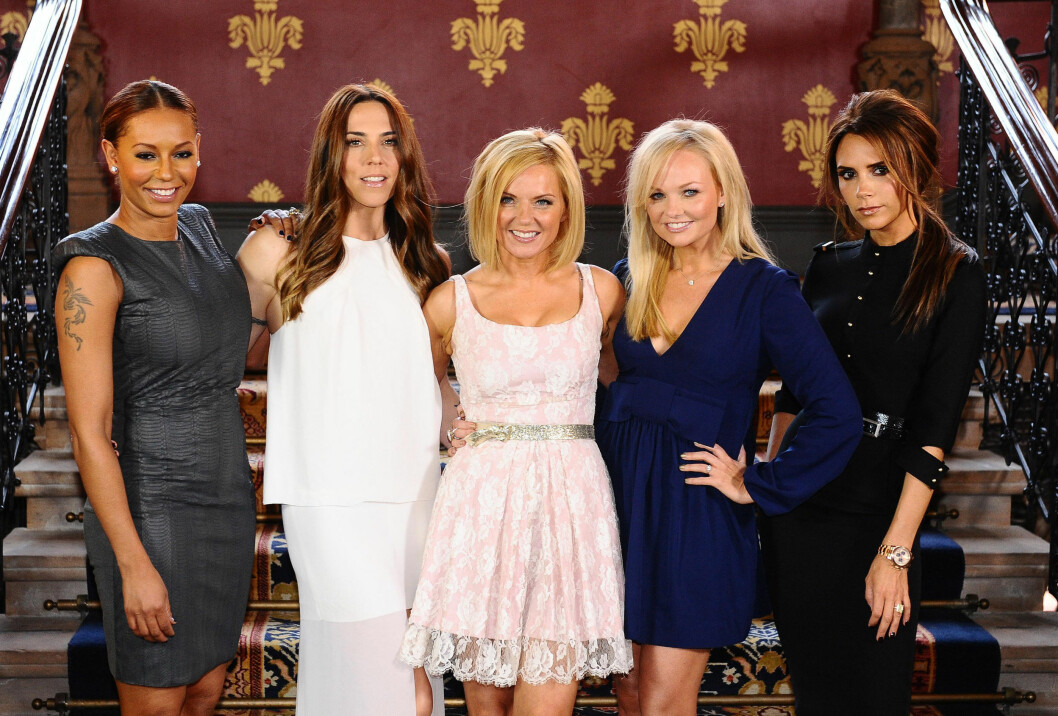 <strong>FIRE ÅR SIDEN SIST:</strong> Sist gang Spice Girls ble gjenforent var i 2012. Fra ventre: Mel B, Mel C, Geri, Emma og Victoria.  Foto: Pa Photos