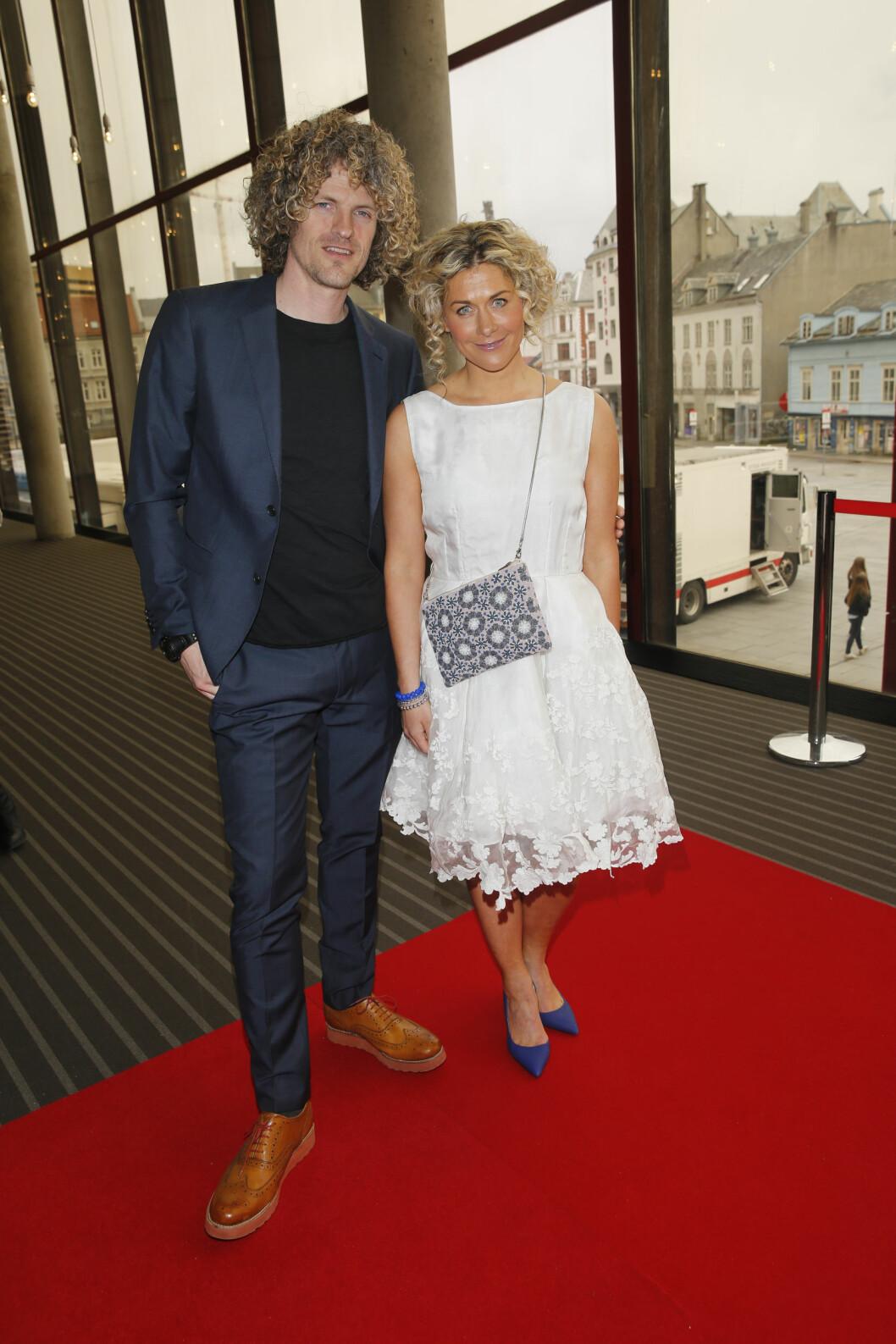 PÅ FEST: Alexander Gamme og Cecilie Skog Foto: Andreas Fadum, Se og Hør