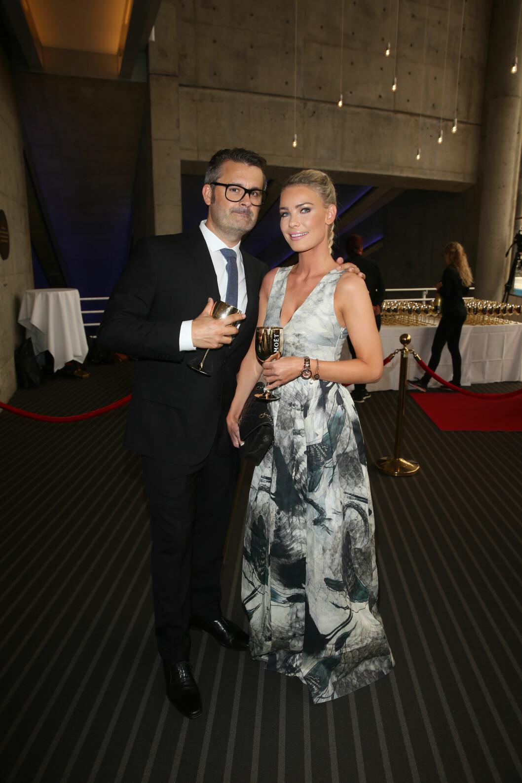 <strong>PÅ FEST:</strong> Thomas Seltzer og kjæresten Cecilie Caroline Waade. Foto: Andreas Fadum, Se og Hør