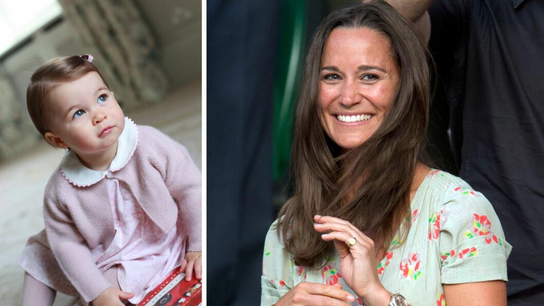 BILLIG BURSDAGSGAVE: I anledning at prinsesse Charlotte fylte ett år mandag 2. mai, valgte Pippa Middleton å forære niesen en pakke med bleier.  Foto: Rex Features/ Zuma Press/ NTB Scanpix