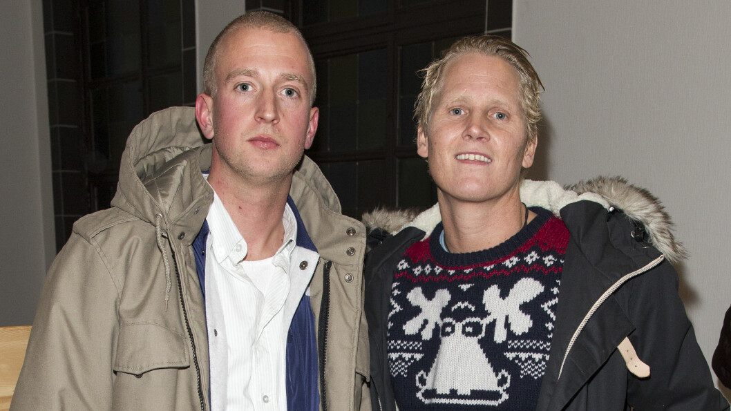 KAMERATER OG KOLLEGER: Gunnar Greve og Vinni har samarbeidet i en årrekke og er i tillegg nære venner. Bildet er fra 2013.  Foto: Andreas Fadum