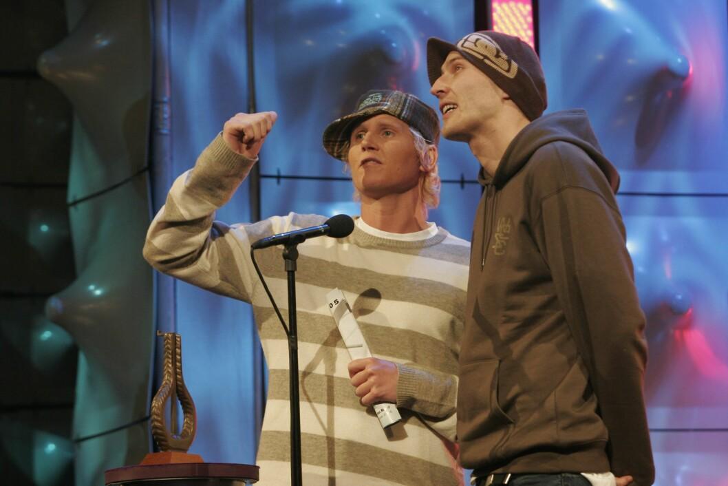 ENORM SUKSESS: «Paperboys» har vunnet to Spellemannspriser i kategorien «urban». Her mottok de pris i 2005.  Foto: NTB scanpix