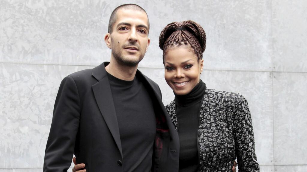 BLIR FORELDRE: I syv år har Janet Jackson vært sammen med Wissam Al Mana. Snart blir familien utvidet - han blir 42 når babyen kommer, og hun føder sitt første barn når hun er 50 år. Foto: NTB Scanpix