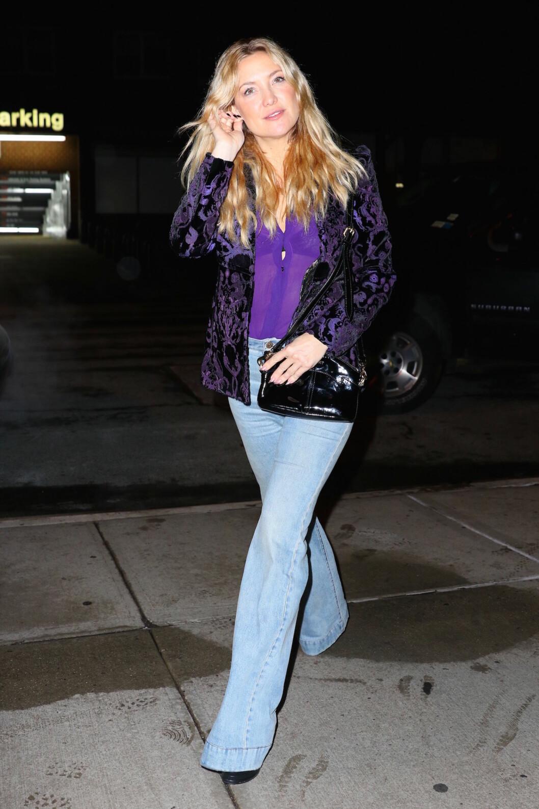 PYNTET SEG FOR DATE: Kate Hudson og Nick Jonas forlot New York-restauranten separat søndag, men skal ha endt opp på samme hotell senere på kvelden.  Foto: Splash News