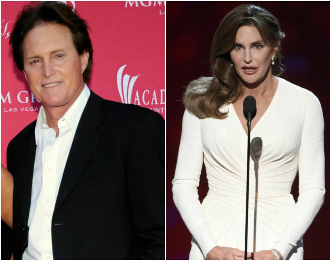 FØR OG NÅ: Det var i fjor sommer Bruce skiftet kjønn og valgte å gå under navnet Caitlyn.  Foto: NTB scanpix