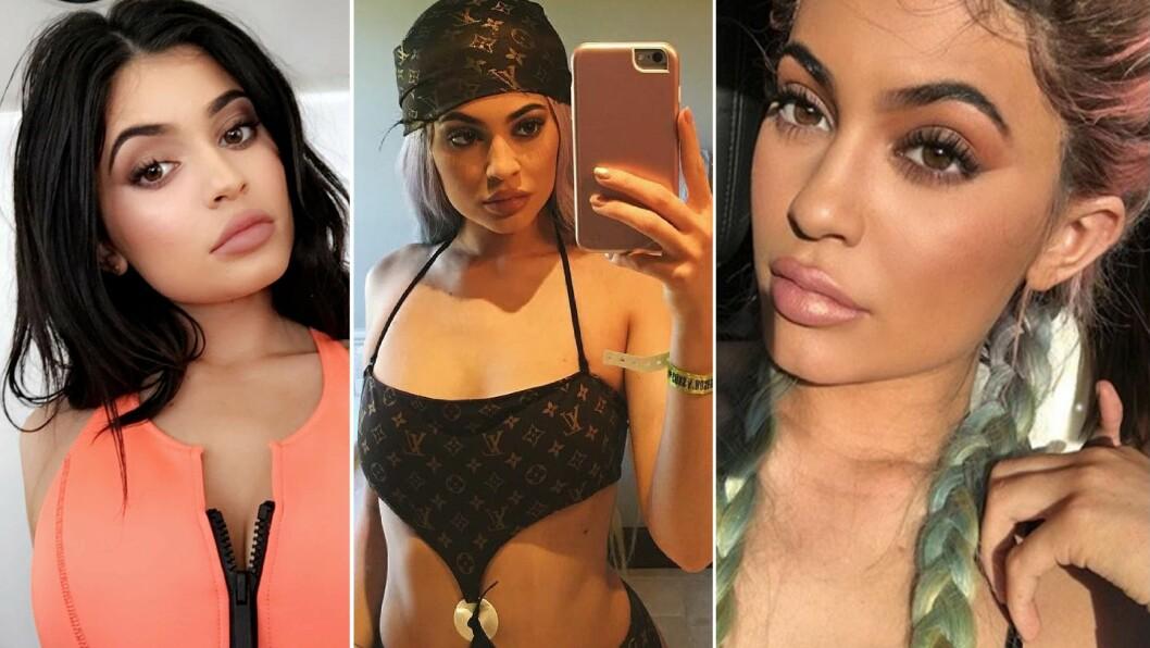 FORRETNINGSKVINNE: Jenter verden over ønsker å kopiere Kylie Jenners trutmunn. Dette har hun gjort god butikk av i form av sitt eget kosmetikk-merke. Foto: NTB Scanpix
