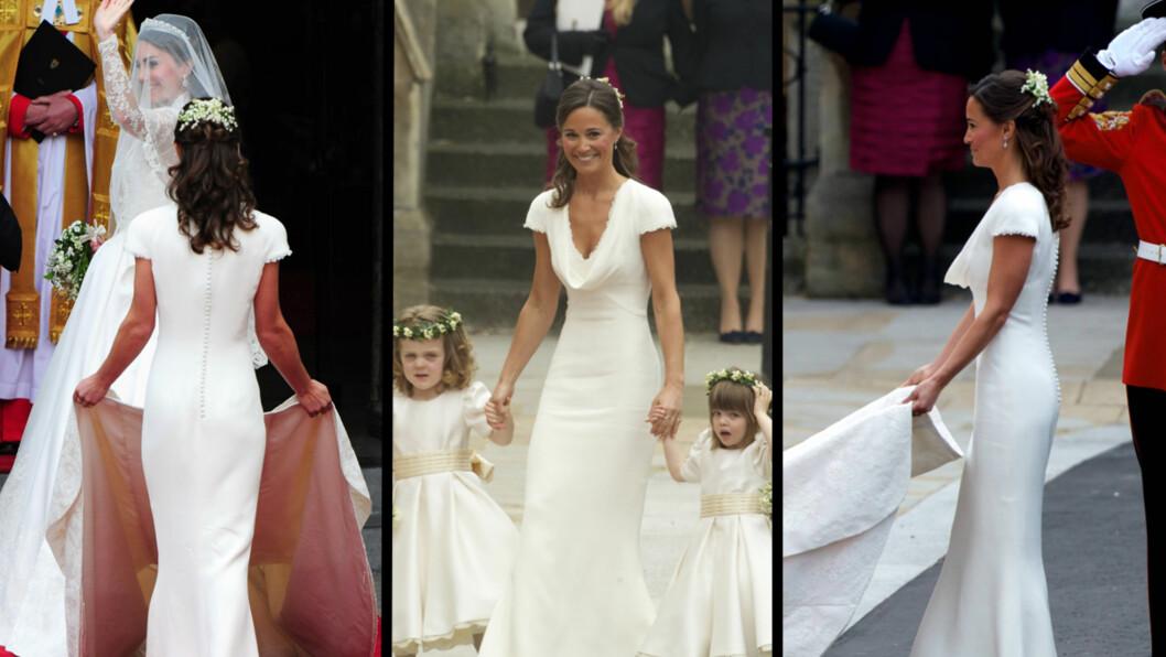 BLE VERDENSBERØMT: Alles øyne var rettet mot Kate Middleton 29. april 2011 - men også lillesøster Pippa fikk massiv oppmerksomhet under det rojale bryllupet. Foto: All Over Press