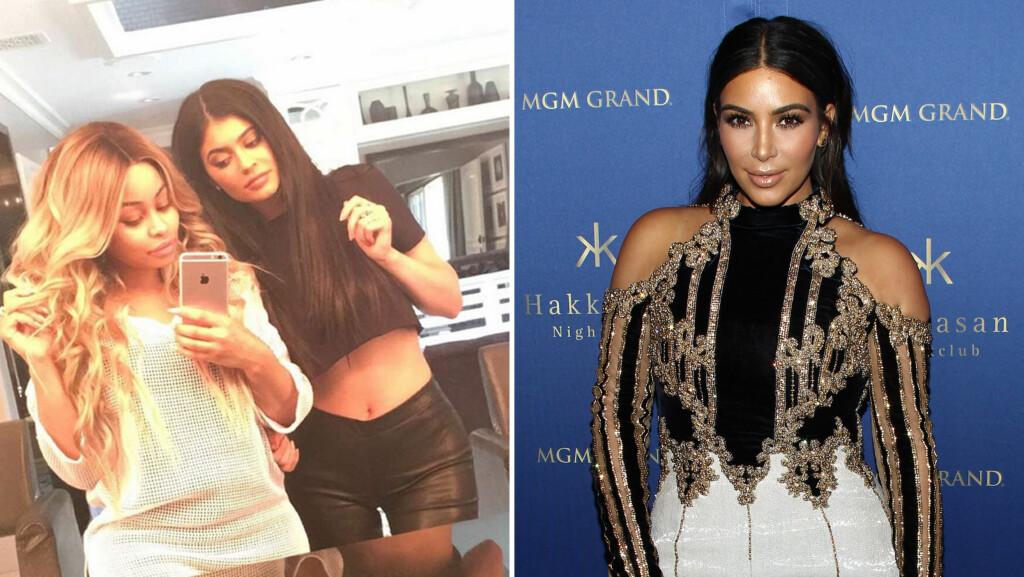 - FREDSMEGLER: Kim Kardashian skal ha tatt grep for å sørge for at Kylie Jenner og Blac Chyna begravde stridsøksen. Foto: Instagram/Scanpix