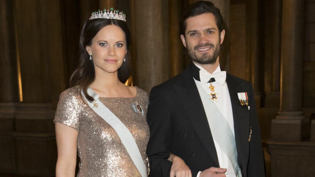 NYBAKTE FORELDRE: Prinsesse Sofia har jobbet til siste slutt. Her fra en gallamiddag på slottet i februar.  Foto: NTB Scanpix