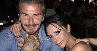 Se David Beckhams romantiske hilsen til kona