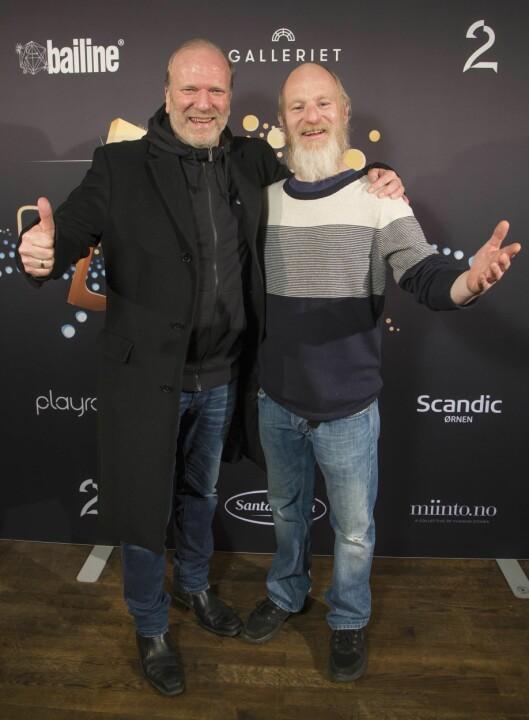 GODE KAMERATER: Ingar Helge Gimle og Eivind Sander har vært gode venner i mange år. De holder ikke tilbake når det kommer til å skryte av hverandre.  Foto: Tore Skaar