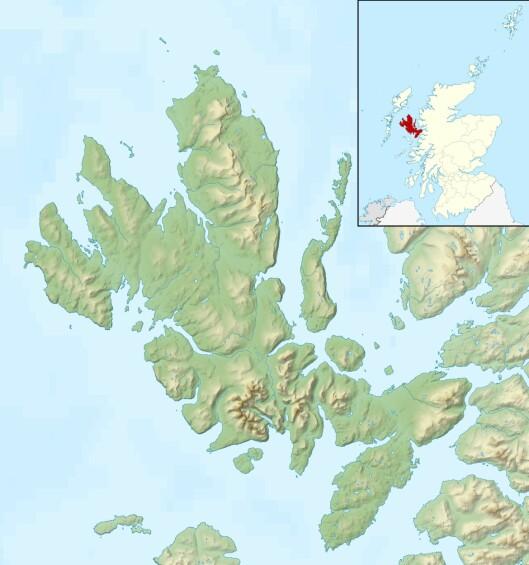 LANGT UNNA HOLLYWOOD: Skye ligger i det nordvestre hjørnet av Skottland. Øya har 10 008 innbyggere. Foto: Nilfanion, Ordnance Survey OpenData, Wikipedia