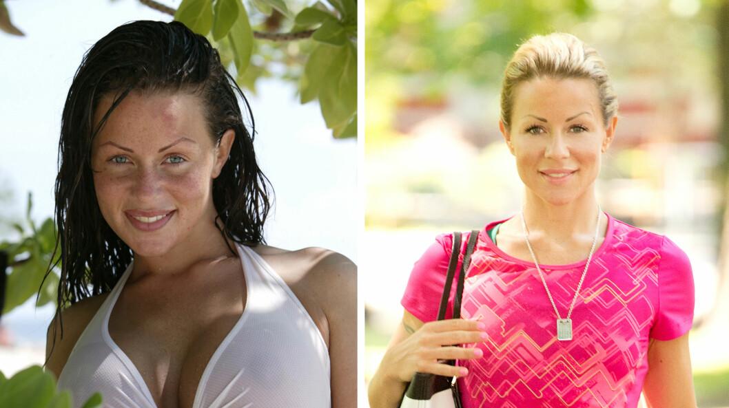 STOR ENDRING: Lene Alexandra Øien skrev åpenhjertig om sin usunne fortid på bloggen. Bildet til venstre er tatt i 2004, mens bildet til høyre er fra i fjor.  Foto: NTB scanpix