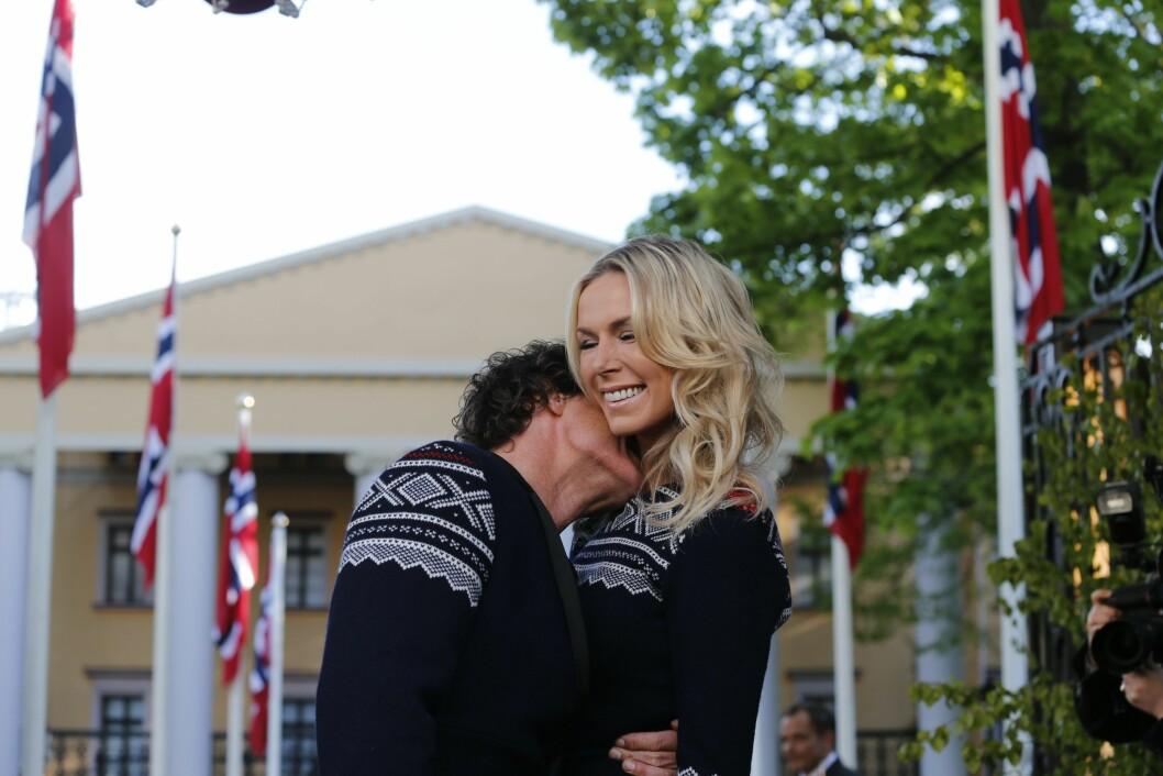 STORSLÅTT: Under 16.mai-festen i 2014 hadde Petter og Gunhild matchende antrekk.  Foto: NTB scanpix