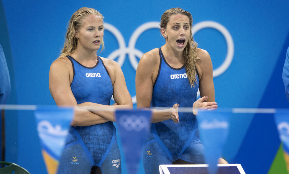 I BRÅK: Michelle Coleman (til venstre) og Jennie Johansson har ikke fulgt landslagets regler. Foto: NTB Scanpix