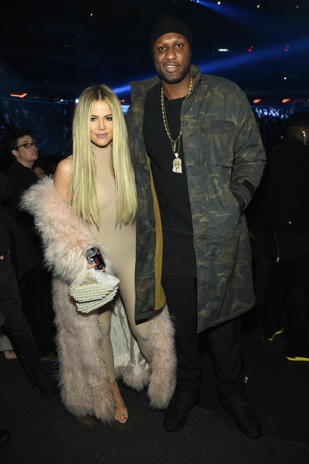 HJELPER EKTEMANNEN: Khloe Kardashian har vært en trofast støttespiller for Lamar Odom etter hans sammenbrudd. Foto: Afp