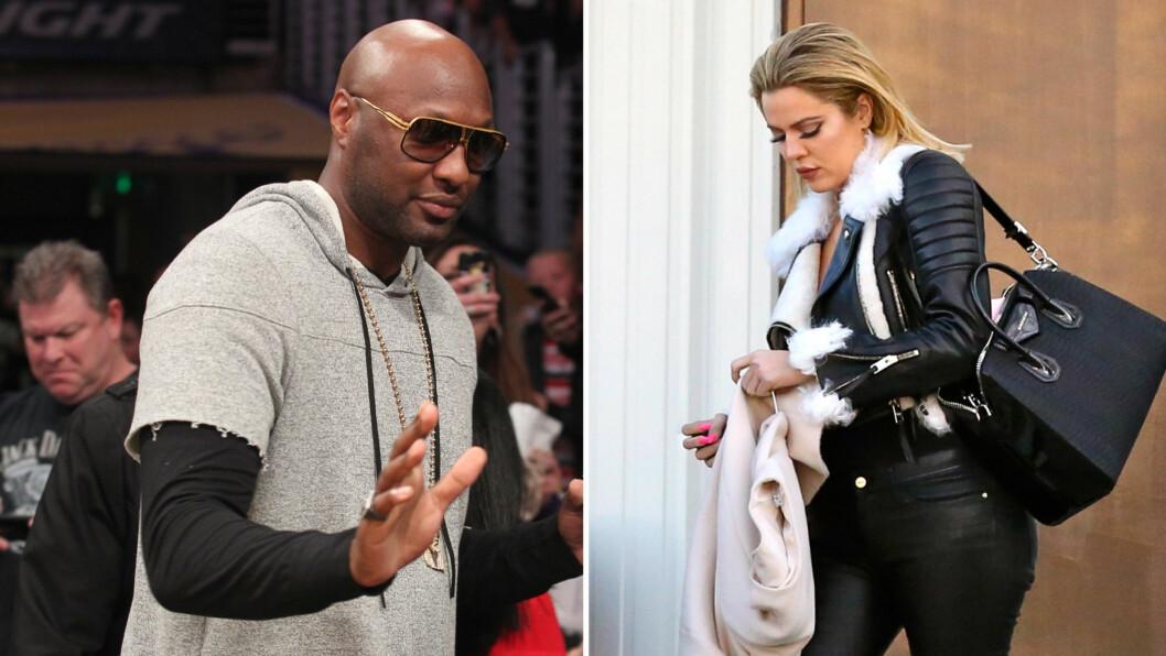 MISFORNØYD: Kilder hevder at Khloé Kardashian ikke er fornøyd med hvordan Lamar Odom oppfører seg etter rehabiliteringen. TV-stjernen er angivelig bekymret for at eksen skal drikke på seg nye helseproblemer. Foto: NTB Scanpix