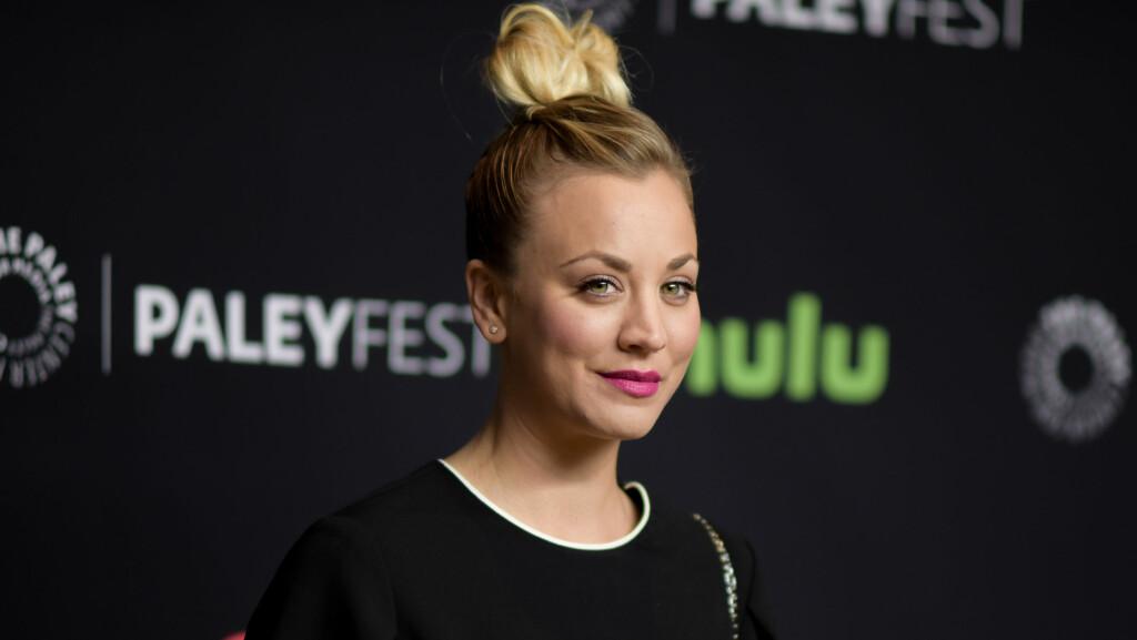 NY FLØRT: Hollywood-stjernen Kaley Cuoco har ikke kommentert kjærlighetsryktene selv enda. Foto: NTB Scanpix