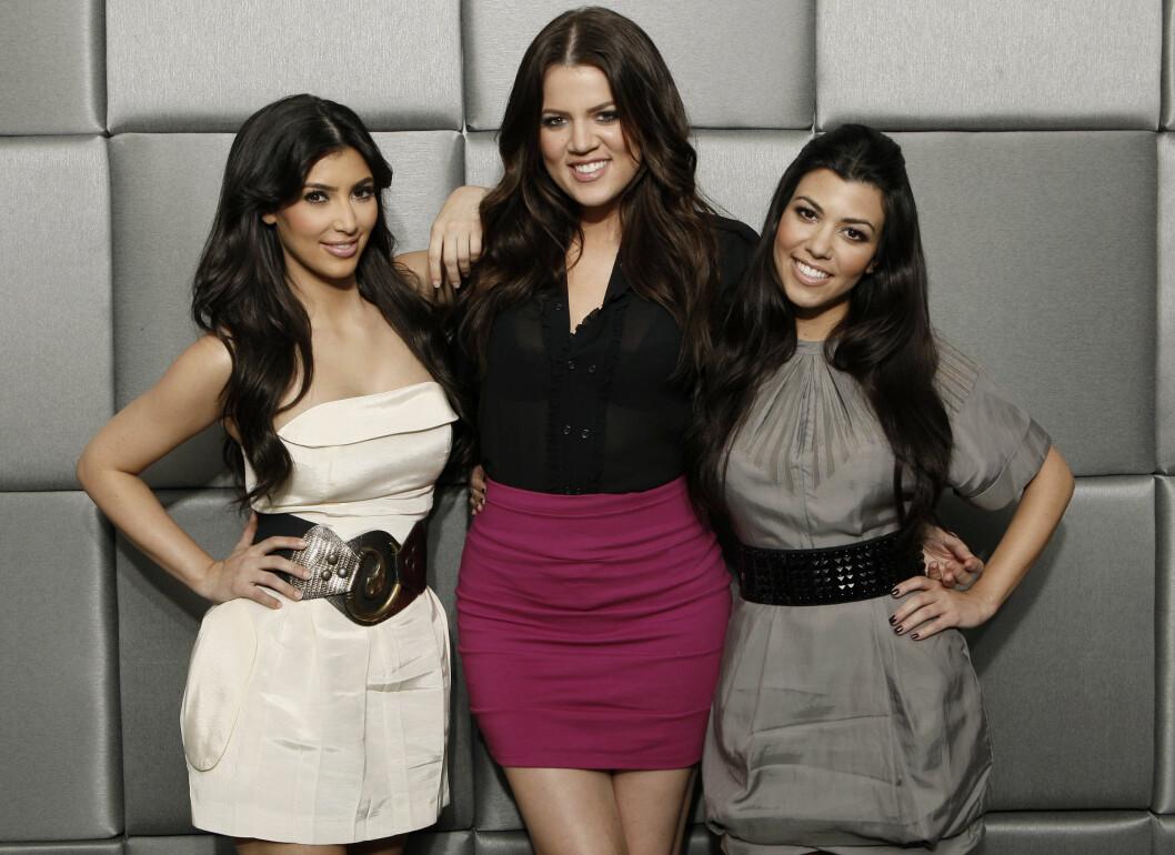 TRIO: Slik så de populære TV-søstrene Kim, Khloe og Kourtney ut i 2009. Foto: NTB Scanpix