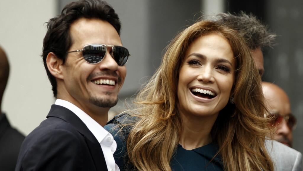 SKILT: Marc Anthony og Jennifer Lopez var gift i syv år før bruddet var et faktum i 2011. Nå åpner Lopez seg om den tunge tiden. Foto: Ap