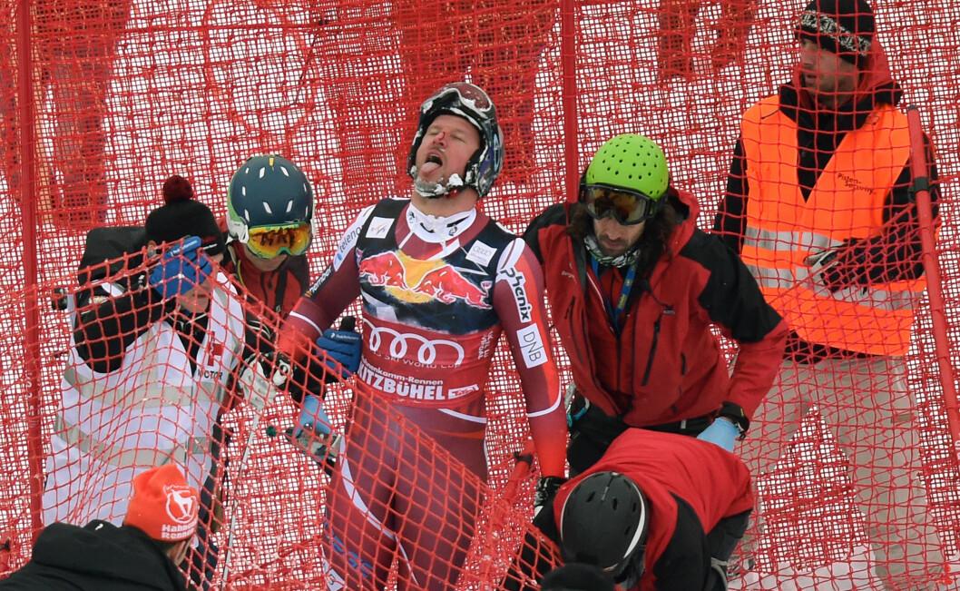 TILBAKE ETTER SKADEN; Aksel Lund Svindal røk korsbåndet etter en dramatisk ulykke i januar. Nå er han imidlertid tilbake i skibakken.  Foto: Afp