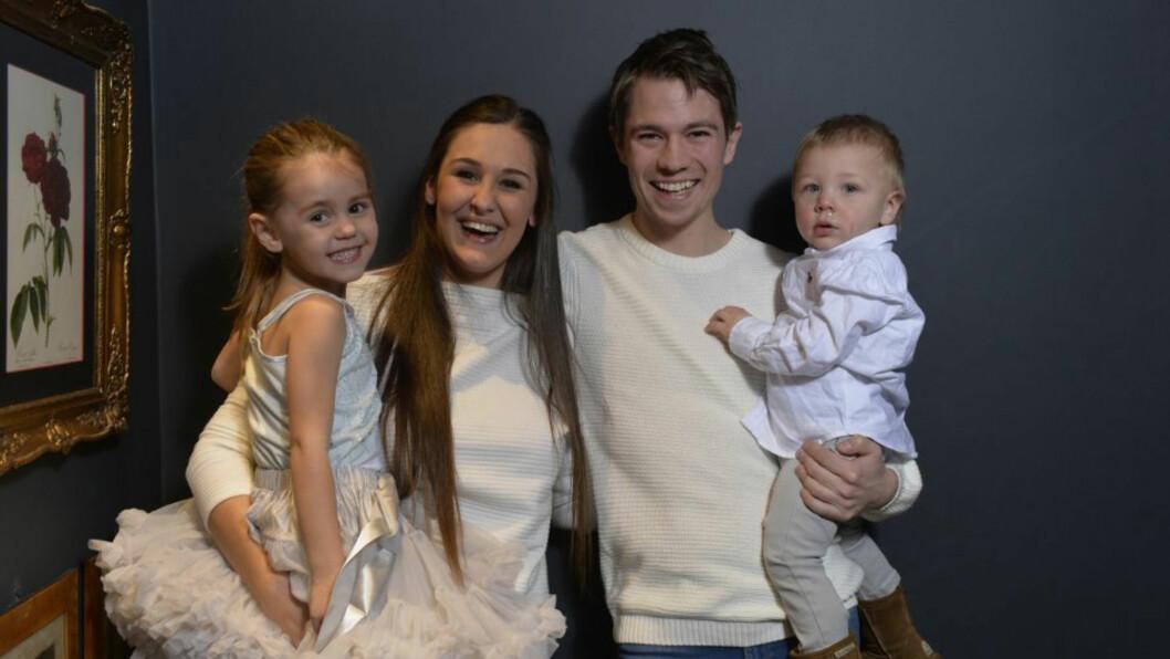 ER GRAVID: Blogger Anna Rasmussen og kjæresten Jan venter deres første felles barn. Hun har to fra tidligere forhold. Foto: Geir Egil Skog