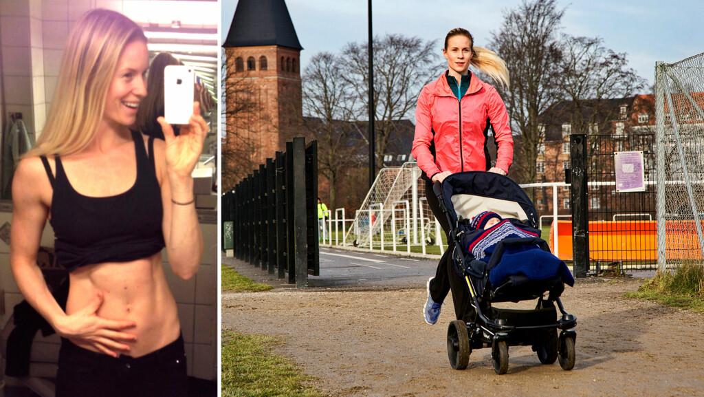TILBAKE I TOPPFORM: Cathrine Larsåsen var kjapt tilbake med treningen etter at hun ble mamma til sønnen Louie for ett år siden. Nå mener hun at hun er i bedre form enn noensinne. Foto: Privat/Mikael Rieck