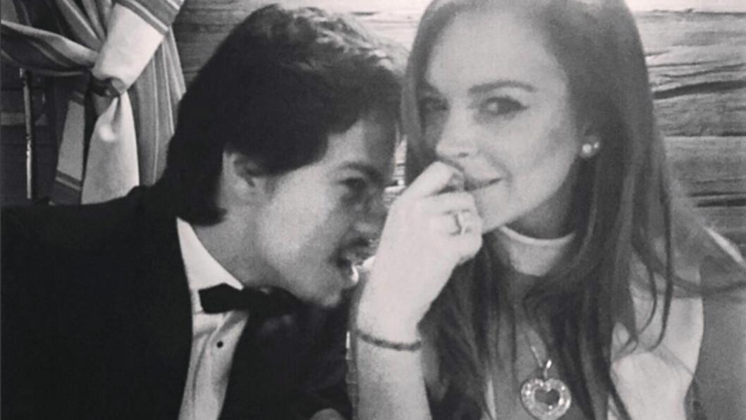 NYTT PAR: Lindsay Lohan skal ha funnet lykken med den 22 år gamle russiske arvingen Egor Tarabasov. Dette bildet delte hun på Instagram i februar, men nevnte ikke sin nye flamme.  Foto: Xposure