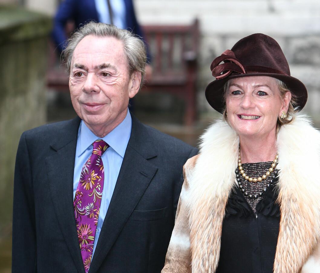 <strong>KJENDISSPEKKET:</strong> Komponist Andrew Lloyd Webber og kona Madeleine deltok under bryllupet.  Foto: wenn.com