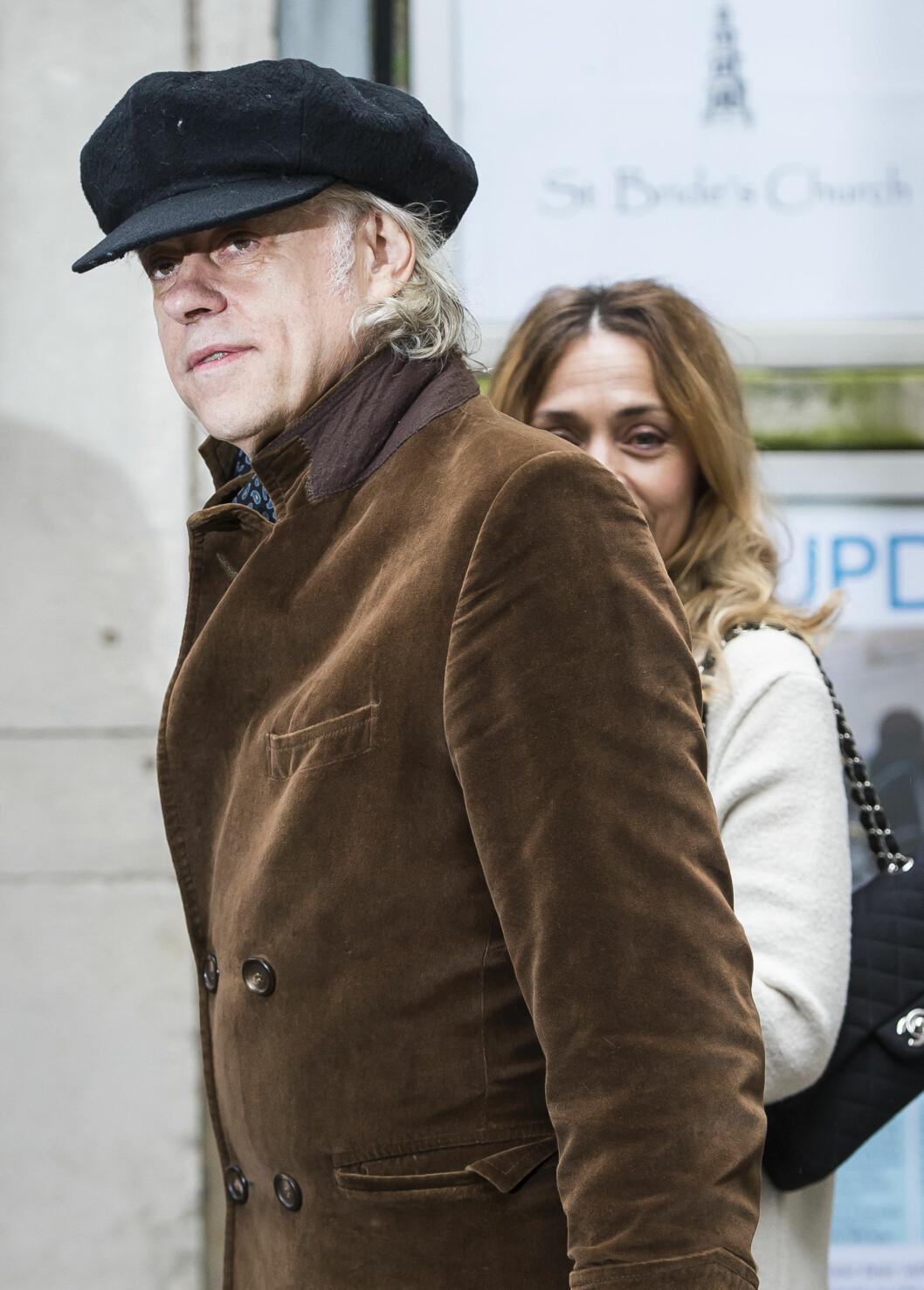 <strong>KJENDISBRYLLUP:</strong> Artist Bob Geldof og kona Jeanne Marine var også på plass i bryllupet.  Foto: SipaUSA