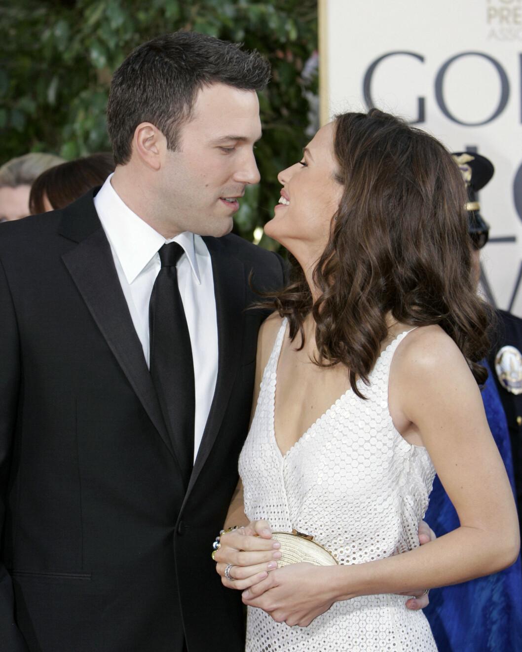 <strong>VINTEREN 2007:</strong> Jennifer Garner og Ben Affleck klarte tilsynelatende ikke ta øynene fra hverandre på Golden Globe-utdelingen i januar dette året.  Foto: AP