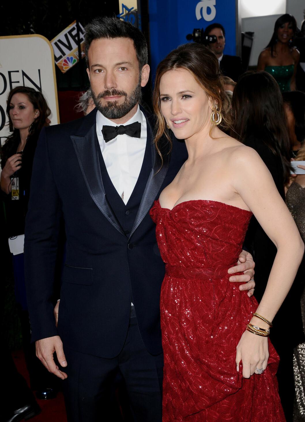 <strong>VINTEREN 2013:</strong> Ben Affleck og Jennifer Garner ankommer Golden Globe sammen i januar det året. Affleck vant pris for beste regi med «Argo». Foto: Abaca