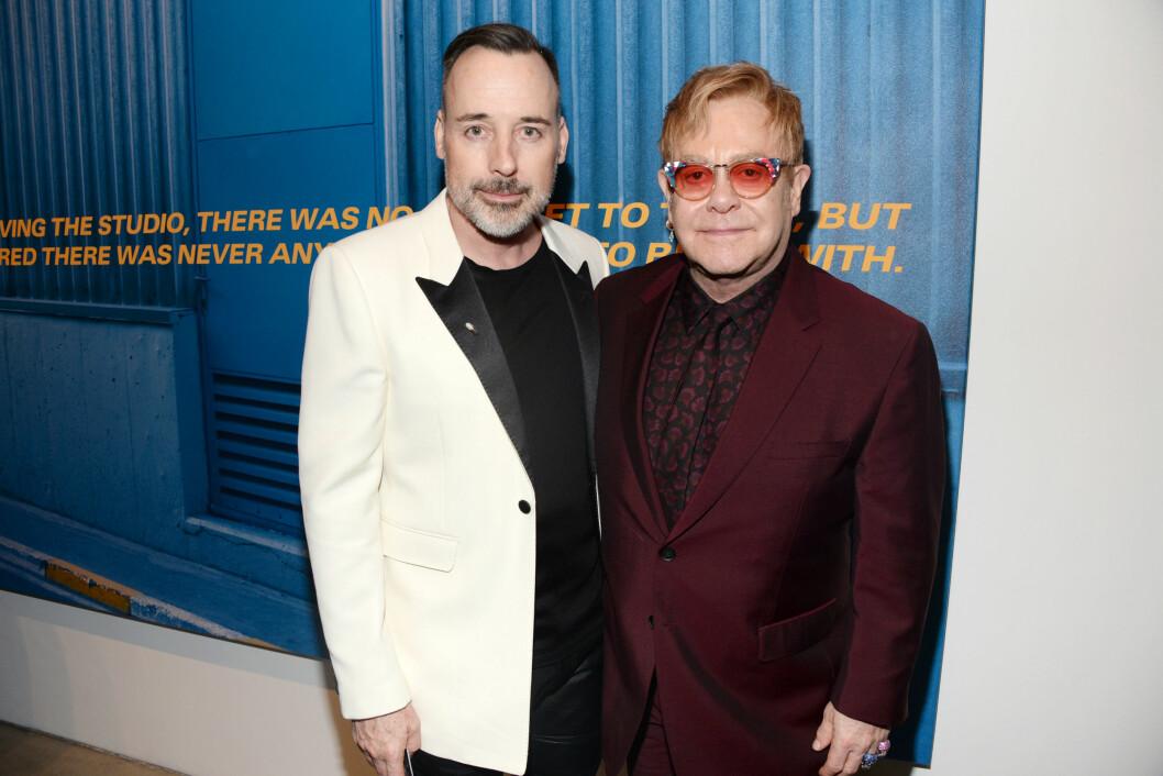 GIFTET SEG ENDELIG: David og Elton har vært sammen siden 1993, men det var først for halvannet år siden paret ble ektefeller.  Foto: SipaUSA