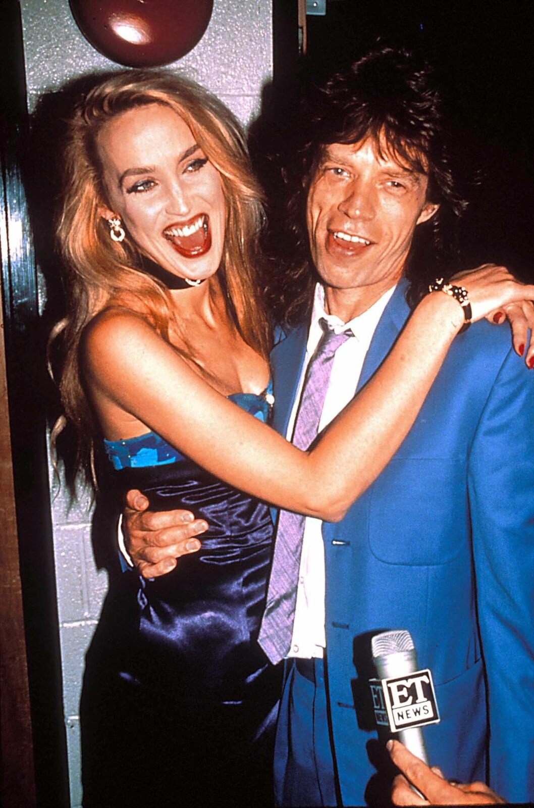 EKSEN: I 22 år var Jerry Hall og Mick Jagger kjærester. Foto: NTB Scanpix